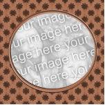 marco floral marrón de la foto escultura fotografica