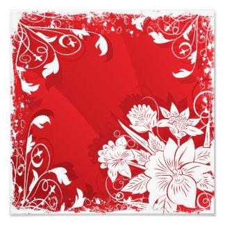 Marco floral rojo y blanco fotos