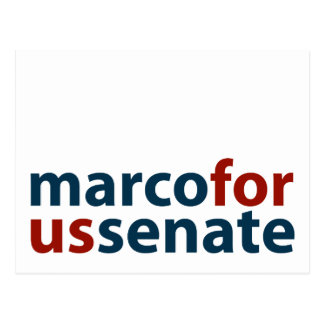 Marco For U.S. Senate Postcard