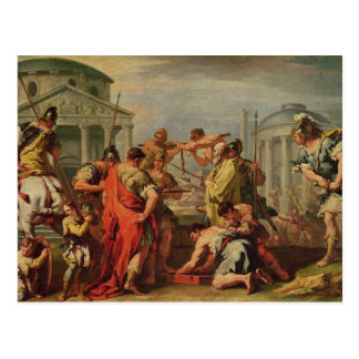 Marco Furius Camillus y Brennus Tarjeta Postal