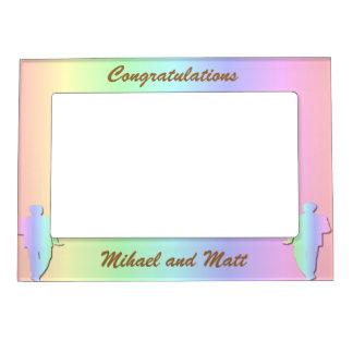 Marco gay del regalo de boda del orgullo en marcos magnéticos para fotos