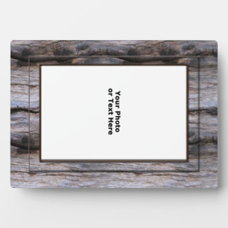 Marco gris rústico de Barnwood 5x7 Placas