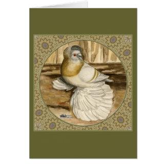 Marco inglés del oro del trompetista tarjeta pequeña