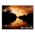 marco island, florida, sunset, river, marco island