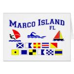 Marco Island FL Signal Flags Cards