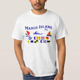 Marco Island FL Signal Flags Tee Shirt