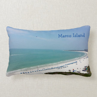 Marco Island Florida Beach Gulf Of Mexico Lumbar Pillow