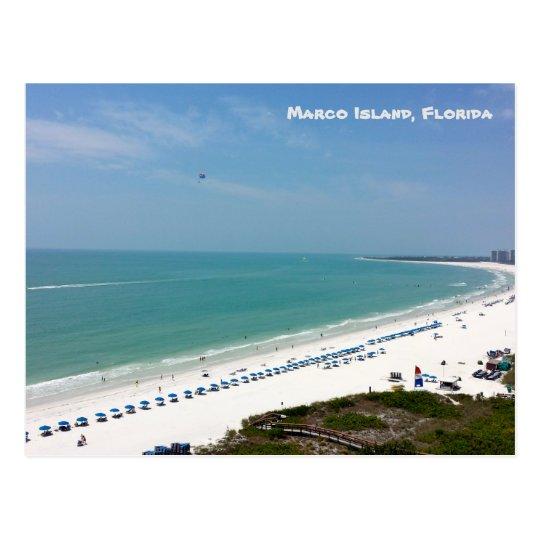 Marco Island Florida: Marco Island Florida Beach Gulf Of Mexico Postcard