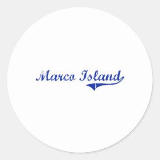 Marco Island Florida Classic Design Stickers