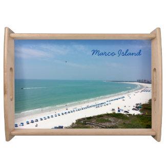 Marco Island Florida Gulf Of Mexico Beach Serving Tray