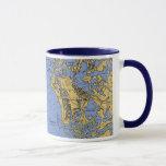 marco, island, florida, nautical, chart, coffee,