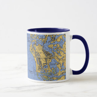 Marco Island, Florida Nautical Chart Coffee Mug