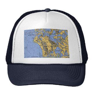 Marco Island, Florida Nautical Chart Hat