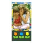 Marco lindo de la foto con la flor - tarjeta de la tarjetas fotograficas personalizadas