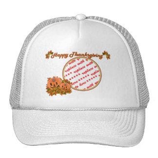 Marco lindo de la foto de las calabazas de la acci gorra