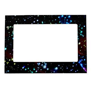 Marco magnético abstracto moderno del espacio exte marcos magnéticos para fotos