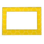 Marco magnético amarillo del peine 5x7 de la miel marcos magneticos