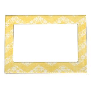 Marco magnético blanco amarillo de los galones 5x7 marcos magnéticos para fotos