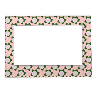 Marco magnético de la flor rosada delicada marcos magnéticos de fotos