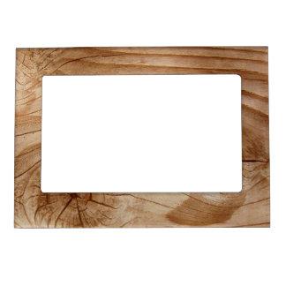 Marco magnético de la foto de la mirada de madera  marcos magneticos