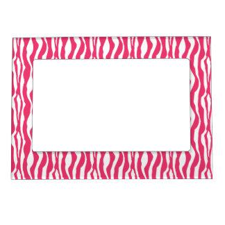 Marco magnético de la foto del estampado de zebra  marcos magnéticos de fotos