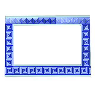 Marco magnético de la frontera azul de la teja marcos magnéticos de fotos