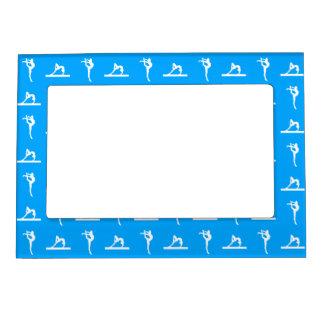 Marco magnético de la gimnasia azul marcos magneticos para fotos