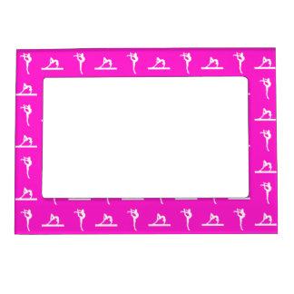 Marco magnético de la gimnasia rosada marcos magneticos para fotos