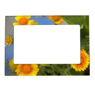 Marco magnético de las flores de oro marcos magnéticos de fotos