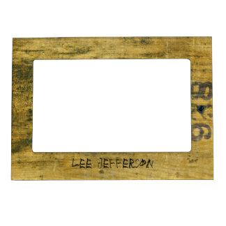 Marco magnético de madera manchado vintage marcos magneticos de fotos