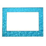 Marco magnético del agua azul marcos magnéticos de fotos