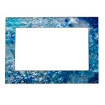 Marco magnético del extracto azul del mosaico foto de imanes