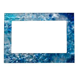Marco magnético del extracto azul del mosaico marcos magnéticos de fotos