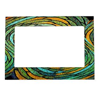 Marco magnético del vórtice del vitral marcos magneticos para fotos