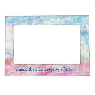 Marco magnético en colores pastel azul y rosado marcos magneticos de fotos