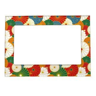 Marco magnético floral retro colorido marcos magneticos para fotos