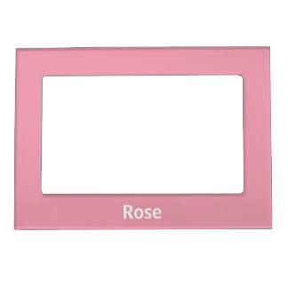 Marco magnético personalizado del rosa color de foto de imanes