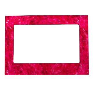 Marco magnético rojo de la foto del remolino 5x7 marcos magneticos