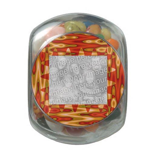 Marco maravilloso de la foto del extracto del amar jarrones de cristal