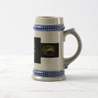 Marco marrón Necked lateral africano lindo del neg Tazas De Café