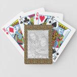 Marco metálico baraja de cartas