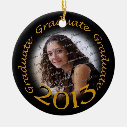 Marco negro 2013 de la foto del oro del graduado adorno de reyes