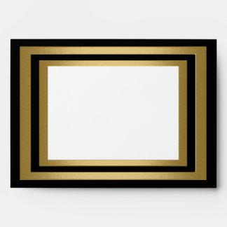 Marco negro del oro blanco todos los sobres de los