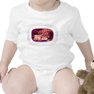 Marco oval de cristal del rectángulo trajes de bebé