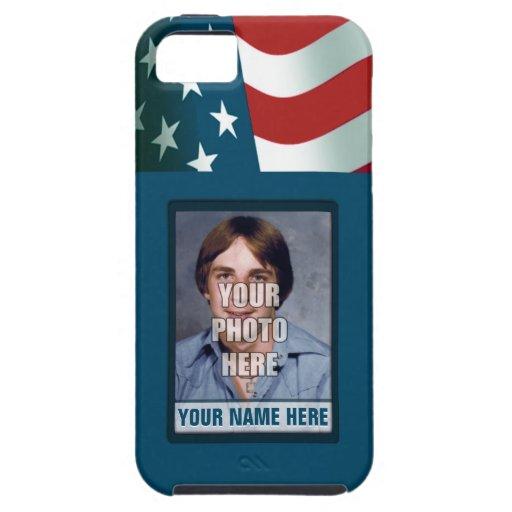 Marco patriótico de la foto iPhone 5 carcasas