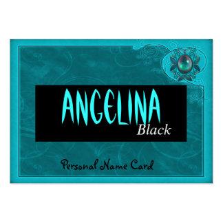 Marco personal del azul del trullo del terciopelo  plantillas de tarjetas de visita