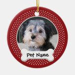 Marco personalizado de la foto del perro - adornos