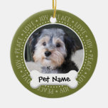 Marco personalizado de la foto del perro - ornaments para arbol de navidad
