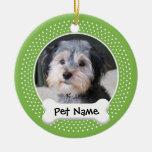 Marco personalizado de la foto del perro - ornamento para reyes magos
