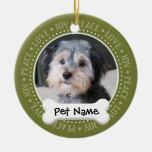 Marco personalizado de la foto del perro - SOLO-EC Ornaments Para Arbol De Navidad